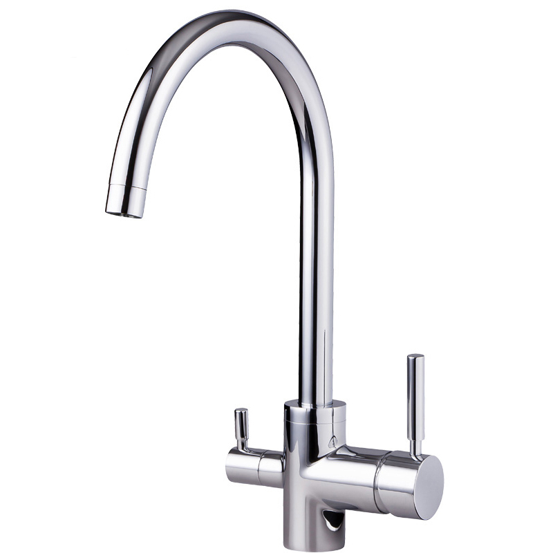 Chrome Three Way Faucet For Filter Water